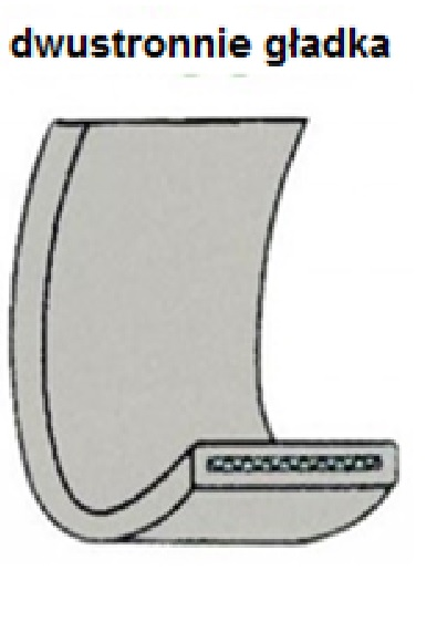 DoLex Habeband mit zweiseitiger Festbeschichtung, mit Schlaufe und G-Haken