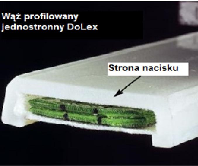 DoLex Profilschlauch einseitig glatt